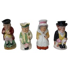 Punch and Judy Set of Staffordshire Toby Jugs