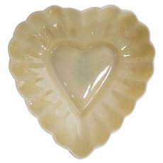 Belleek Scalloped Heart Dish