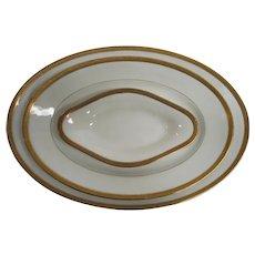 Limoges Gold Rimmed Greek Key Serving Platters by Old Abbey
