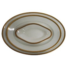 Limoges Gold Rimmed Greek Key Serving Platters by Old Abbey