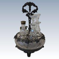 Victorian Pewter Castor Set