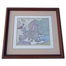 Old European Latin Map by TC Lotter