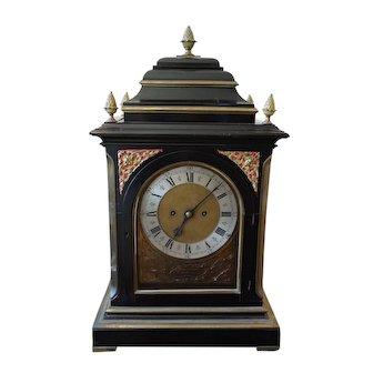 19th Century J.N. Moore & Sons Ebonized Mantle Clock