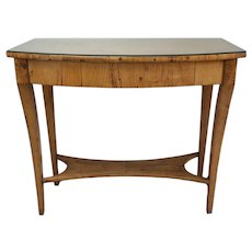 19th Century Austrian Biedermeier Birch Antique Pier Table