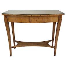 19th Century Austrian Biedermeier Birch Antique Pier Table