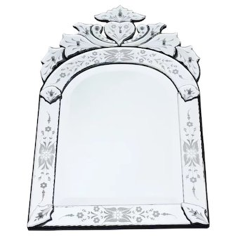 Vintage Venetian Glass Mirror