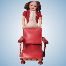 Really Unique Leatherette Upholstered Doll Chair