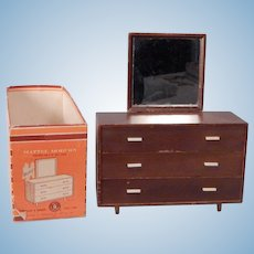 Very Nice Mid Century design Barbie Dresser by Mattel  With box