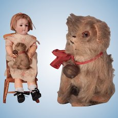 Very cute small Vintage Mohair Dog for your doll
