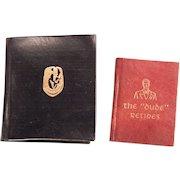 Two Wonderful Miniature books Published by Black Cat Press.