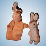 Lot of two Steiff rabbits