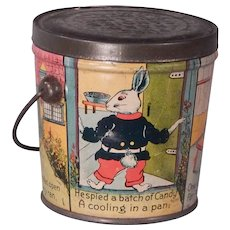 """Darling 3"""" Tin and Litho Candy container for Lovell and Covel"""