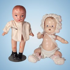 Nice lot of Two Composition dolls.