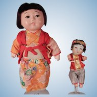 Two little Japanese dolls Looking for A Home