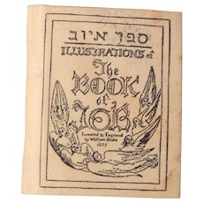 Neat Miniature book Book of Job by William Blake