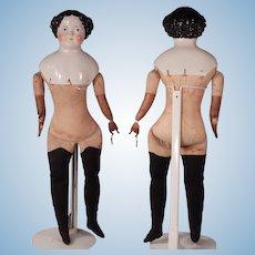One Whopping big China Head Doll on Original Body