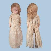 Nice German Papier Mache doll  Original wig, Dress