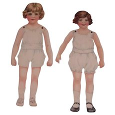 Two Wonderful Vintage jointed Paper Dolls