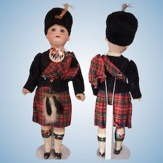 cute little Scottish Soldier by Armand Marseille