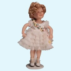 Cute little  porcelain Shirley Temple by Elke Hutchins