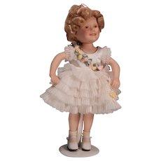 Cute little  porcelain Shirley Temple by Elke Hutchins