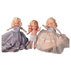 Lot of Three cute Bisque NASB dolls.