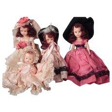 Lot of three Hard Plastic.  NASB Dolls and one Hollywood doll