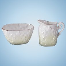 Cute little Pitcher and Waste bowl for a Doll's tea set.
