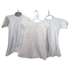 Lot three of Cute Vintage Baby dressed for your bisque, or composition Babies