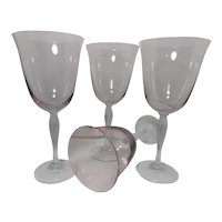 Vintage Lyric Pink by Crate and Barrel Water Goblets