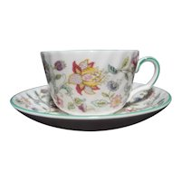 Vintage Minton Haddon Hall B-1451 Cup and Saucer