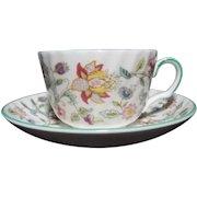 Vintage Minton Haddon Hall B-1451 Cup and Saucer