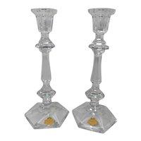Vintage  Crystal Beyer Bleikristall Candle Stick Holders