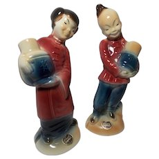 Royal Copley Oriental Boy and Girl Figurines