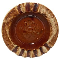 Vintage 1950's Hull Prancing Deer Cigar Ashtray