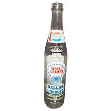Vintage Pepsi Cola 1971 Dallas Cowboys World Champs Bottle