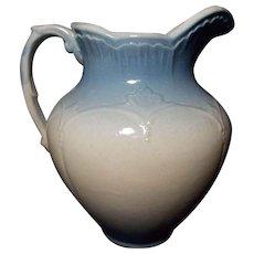 JBP 688 Vintage Blue and White Salt Glaze Stoneware Pitcher