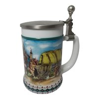 Vintage BMF Western German Milk Glass Stein