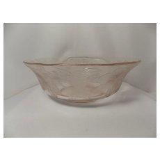 Vintage 1930's Pink Dogwood Berry Bowl