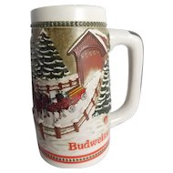 "1984 Budweiser CS62 ""Team and Wagon with Covered Bridge"" Stein"