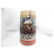 "Budweiser ""Grant's Farm Gates"" Holiday Stein"