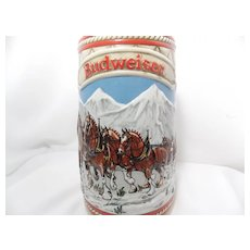 "Budweiser ""Snow Capped Mountains"" Holiday Stein"