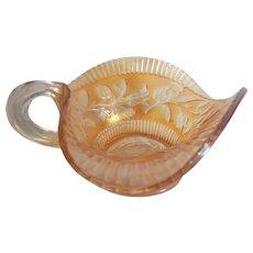 Vintage Carnival Glass Wildflower Sauce Bowl