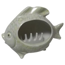 Porcelain Smoker Fish Ashtray