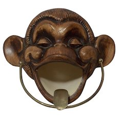 Vintage Unusual Treasure Craft Monkey Ashtray Unique