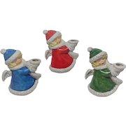 Goebel Christmas Angel Candle Holders