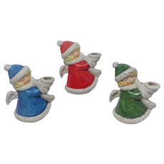 Goebel Christmas Angel Candle Holders