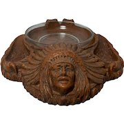 Vintage Indian Pipe Holder and Ashtray