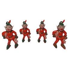 Vintage Set of 3 Rosbro Rosen Christmas Evil Elves