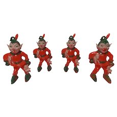 Vintage Set of 3 Rosbro Rosen Christmas Evil Elves